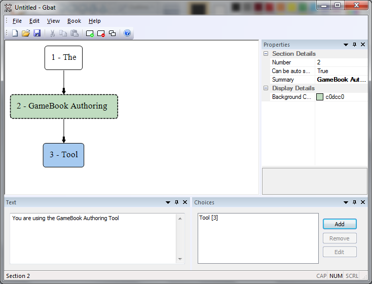 Click to view The GameBook Authoring Tool screenshots