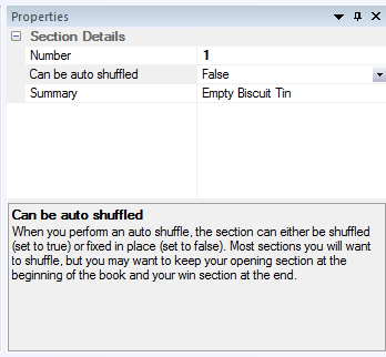 """Can be shuffled"" mode in the properties grid"
